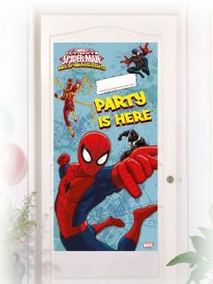 Spiderman Türposter Party-Deko Lizenzartikel bunt 76x152cm