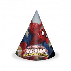 Spiderman™ Partyhüte 6 Stück Lizenzware
