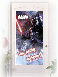 Star Wars Türposter Darth Vader Party-Deko bunt 76x152cm