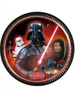Star Wars Pappteller Party-Deko 8 Stück bunt 23cm