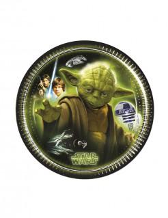 Star Wars Pappteller Party-Deko 8 Stück bunt 20cm