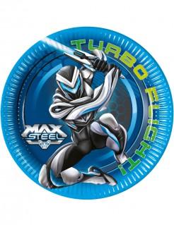 Max Steel™ Partyteller 8 Stück Lizenzware 23cm