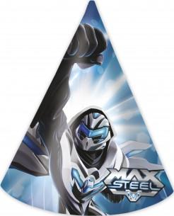 Max Steel™ Partyhüte 6 Stück Lizenzware