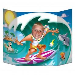 Surfer-Fotowand bunt 96x64cm