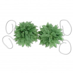 Bikini-Oberteil aus Blättern grün