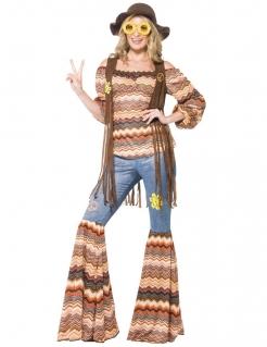 Süsses 60er Hippie Damenkostüm bunt