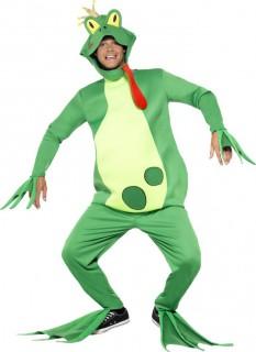 Froschkönig Deluxe Kostüm Unisex grün-gelb