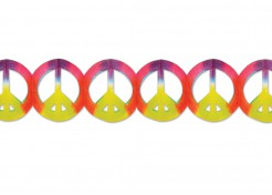 Peace Girlande Party-Deko Hippie bunt 365x15cm