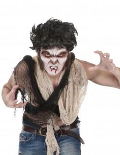 Werwolf Schminkset Halloween Make-up 6-teilig weiss-braun