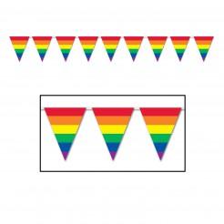 Regenbogen-Girlande Wimpelgirlande bunt 3,7m