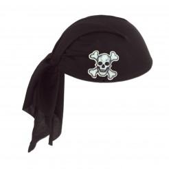 Piraten-Kopftuch für Erwachsene schwarz