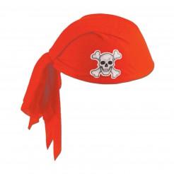 Piraten-Kopftuch für Erwachsene rot