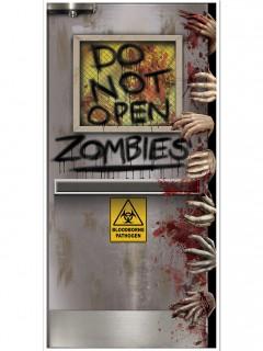 Zombie-Labor Tür-Poster Halloween Party-Deko bunt 76x152cm