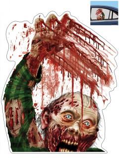 Blutiger Zombie Auto-Aufkleber beige 30x43cm