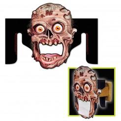 Zombie WC-Papier Spender Halloween Party-Deko schwarz-braun 27x36cm