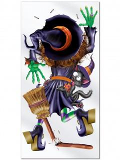 Flugunfall Hexe Tür-Poster Halloween Party-Deko bunt 76x152cm