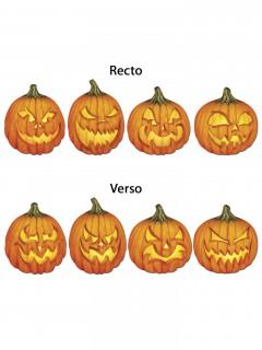 Grinsende Kürbisse Cutouts Halloween Party-Deko 4er-Set orange 4 Stück 36cm