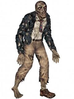 Schlurfender Zombie Halloween Deko-Pappfigur bunt 182cm