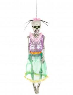 Tag der Toten Skelett-Frau Dekofigur Halloween bunt 41cm