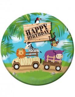 Partyteller Safari Abenteuer 8 Stück bunt