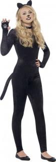 Heisser Katzen-Catsuit Tierkostüm schwarz-pink