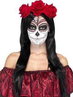 Tag der Toten Haarreif Rosen rot