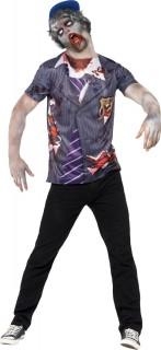 Zombie Schüler Halloween Kostüm-Set blau-weiss-rot