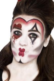 Herzkönigin Make-Up Set rot-weiss-schwarz