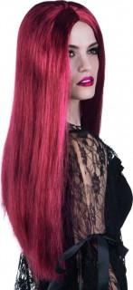 Zauberhafte Hexe Halloween Langhaar-Perücke rot