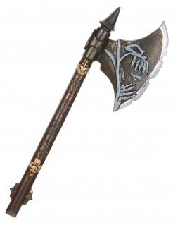 Dämonen Streitaxt Halloween Waffe braun 68cm