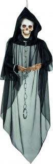 Gruseliger Skelett-Gefangener Halloween-Hängedeko schwarz-beige 150cm