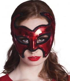 Teufelin Halloween-Augenmaske für Damen