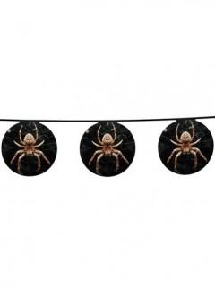 Halloween-Girlande Spinne im Netz schwarz-braun 4x0,2m