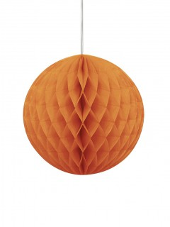Halloween-Wabenball Hängedeko orange 20cm