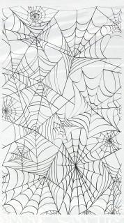 Halloween-Geschenktüten Spinnweben-Tüten 20 Stück transparent-schwarz 22x12,5cm