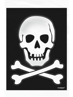 Piraten Tüten Totenkopf Beutel 50 Stück schwarz-weiss 10x15cm