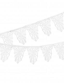 Spinnennetz-Deko Halloween-Girlande weiss 3,65x0,23cm