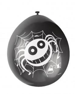 Halloween-Luftballons mit Spinnennetzen 10 Stück
