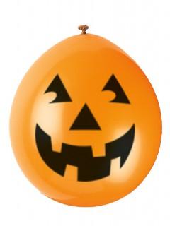 Halloween-Luftballons Lächelnde Kürbisse 10 Stück