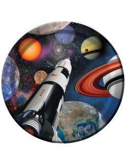 Weltraum Partyteller Kindergeburtstag 8 Stück