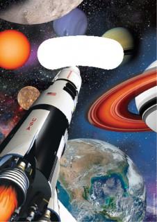 Weltraum Geschenktüten Kindergeburtstag 8 Stück bunt 16 x 22 cm