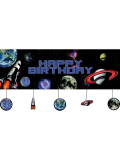 Banner Weltall für Geburtstag