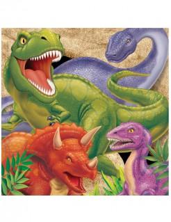 Dinosaurier-Partyservietten Kindergeburtstag 16 Stück 33x33 cm