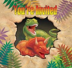 Set Einladungskarten Dinosaurier