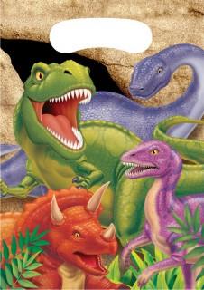 Geburtstags-Geschenktaschen Dinosaurier 8 Stück