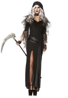 Gothic Sensenfrau Halloween Damenkostüm schwarz