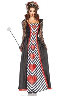 Böse Königin Damenkostüm Märchen schwarz-rot-weiss