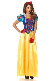 Edle Märchen-Prinzessin Damenkostüm gelb-blau-rot