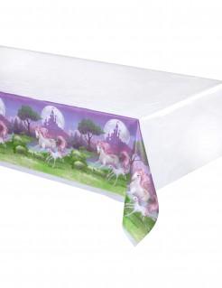 Kunststofftischdecke Magisches Einhorn weiss-bunt 130x260cm