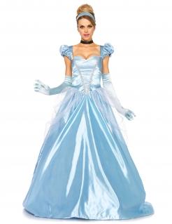 Bezaubernde Märchen-Prinzessin Damenkostüm Königin hellblau
